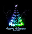 Christmas tree from light vector image