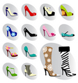 fashion woman shoes vector image vector image
