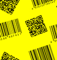 barcode and qr-code seamless wallpaper vector image vector image