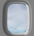 window plane vector image