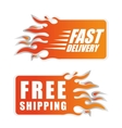 Free delivery illuistration vector image
