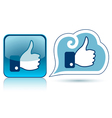 thumb up vector image vector image