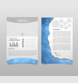 abstract template design brochure web sites vector image