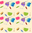cookies and sweets seamless background vector image