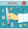 First Medical Aid Concept in Flat Design vector image