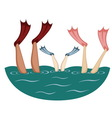 Flippers up vector image
