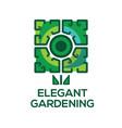 logo templates elegant gardening vector image