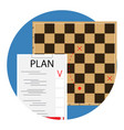 plan and tactic vector image