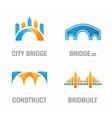 Set of abstract bridge logo vector image
