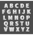 Volume 3D alphabet letters vector image
