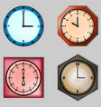 set of four clocks vector image
