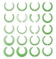 green laurel wreaths 1 vector image vector image
