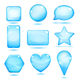 Opaque blue glass shapes vector image vector image