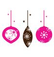 christmas retro ornamental balls collection vector image