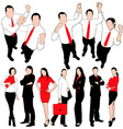 business people silhouettes set vector image vector image
