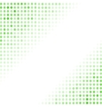 Dotted Green Background Halftone Pattern vector image
