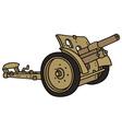 Vintage sand cannon vector image