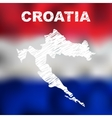 Croatian Abstract Map vector image
