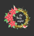 christmas wreath nest vector image