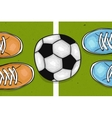 Football field with ball in the center The sports vector image
