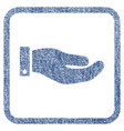 hand fabric textured icon vector image
