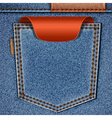 jeans pocket with price tag vector image
