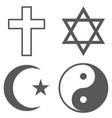 religion icon set simple vector image