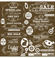 Set of easter sale offer labels and banners vector image