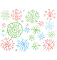 snowflakes on white background vector image