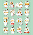 sticker design for facial expressions vector image