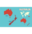 world map australia vector image
