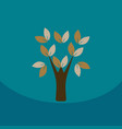 go green eco tree recycling concept on organic vector image