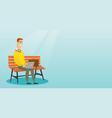 businessman working on laptop outdoor vector image vector image