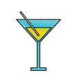 scribble yellow cocktail cartoon vector image