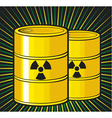 barrels with nuclear waste vector image