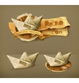 Paper boat icon vector image vector image