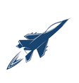 Stylized air fighter vector image