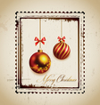 Stamp and christmas balls vector image vector image