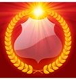 Luminous laurel wreath vector image