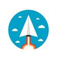 464paper plane launcher icon vector image