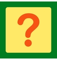Question flat orange and yellow colors rounded vector image