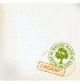 organic stamp vector image