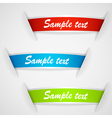 Set of multicolored stickers vector image