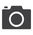 camera glyph icon web and mobile photo sign vector image