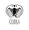 Cobra logo design template vector image