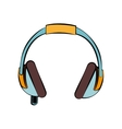 headphone music sound design isolated vector image
