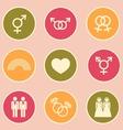LGBT symbol icon vector image