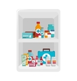 medicine drugs isolated icon vector image