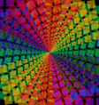 Mosaic pattern spectral background vector image