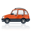 Orange car vector image
